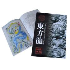 60Pages The Dragon Tattoo Flash Art Designs Manuscript Sketch Line Book Hot