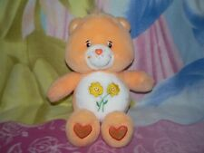 "13"" PLUSH ORANGE FLOWERS FRIEND TALKING CARE BEAR BABY BOY GIRL GIFT SOFT TOY"