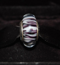 "Genuine Pandora Murano Glass Bead ""African Plains Zebra "" 790938 - retired"
