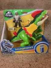 "New Fisher Price Imaginext Jurassic Park World Dinosaur ""Dilophosaurus"" W/ Agent"