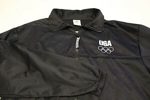 United States Olympic Committee Size XL Black Full Zip USA Jacket