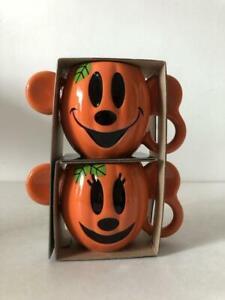 Disney Pumpkin Mug Cup Set Mickey Mouse Minnie Mouse Halloween