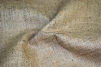 "Hessian Fabric Woven Natural Jute Burlap Garden Craft Sack Upholstery 40"" Wide"