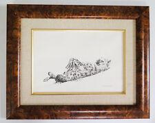 "Craig Bone Classic Early Original Pen & Ink Art ""Hyena"" 9"" X 12"" Animal"