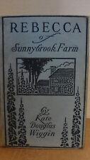 "1920 YOUNG ADULT  BOOK ""REBECCA of SUNNYBROOK FARM by KATE DOUGLAS WIGGIN"