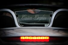 Porsche Boxster Windscreen rear wind deflector 986 1996-2004 Custom Etched & Lit