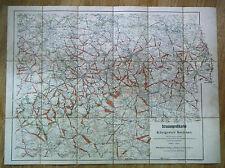 alte Landkarte Straßenprofilkarte vom Königreich Sachsen um 1900 Leipzig Dresden
