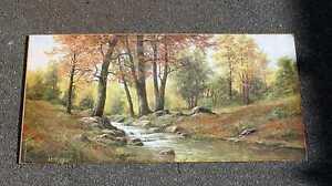 Weiher im Wald/Druck auf Pappe/Repro/1266
