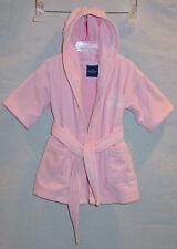 RITZ CARLTON BERNARD GIRLS PINK HOODED TERRYCLOTH BATHROBE / ROBE SIZE 3