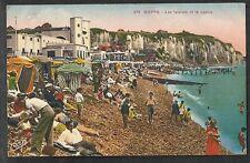 CPA colorisée DIEPPE N°379 Falaises Casino Plage Congés payés 1936 Schiltigheim