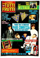 Tutti Frutti 8 del 1985 Prince Bob Dylan Beatles SIMPLE MINDS MADONNA ITALY