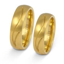 Zwei elegante Ringe aus Titan - Hochzeitsringe Eheringe mit gratis Gravur T19HH