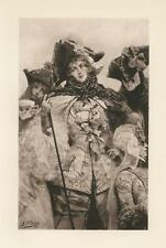 ANTIQUE FESTIVAL VENICE COSTUME MASKS GROTESQUE ORNAMENTAL BEAUTIFUL WOMAN PRINT