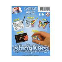 PACK OF 50 SHEETS CRYSTAL SHRINKLES 13cm x 10cm CHILDREN SCHOOL SHRINK ART 1603