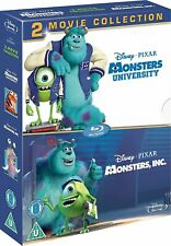 Monsters University + Monsters Inc [Region Free, Disney Pixar, Blu Ray Disc] NEW