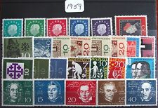 Germany Complete Year 1959 Stamp Set with Souvenir Singles MNH German Stamps