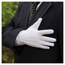 5 Pairs Men White Formal Gloves Tuxedo Honor Guard Parade Santa Inspection US