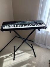 Yamaha PSR-E253 61-Key Portable Keyboard - Stand, Sustain, Adapter, Music Rest