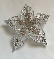 bridal cake bouquet 4.2 Cm Across 2 x Diamanté flower brooch broach