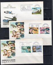 España Pioneros Aviación Fuerzas Armadas sobres primer día año 1980 (DO-908)