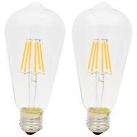 2er 6W E27 Vintage LED Edison Filament Leuchtmittel Retro Industriell Glühbirne