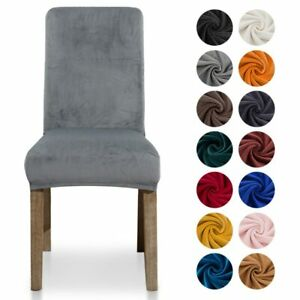 Thick Velvet Chair Cover Dining Chair Slipcover Elastic Stretch Chair Cover Case