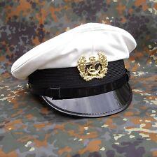 Kapitänsmütze Marinemütze Schirmmütze weiss