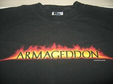 Vintage Armageddon Touchstone Movie Promo Men's XL Black Shirt FREE Ship Willis