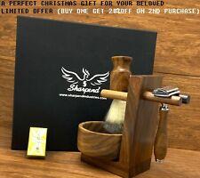 Classic 5 Piece Shaving Set |DE Safety & Badger Brush & Bowl | Men's Gift Kit US