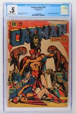 Catman Comics #29 - Continental 1945 - CGC 0.5 - Doctor Macabre Cover & Story!