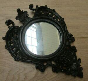 CAST IRON GARGOYLE antique iron vintage rustic ornate decorative hanging Mirror