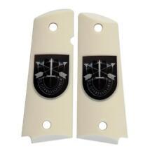 Custom Full Size 1911 Grips Ambidextrous De Oppresso Liber White Colt Kimber etc
