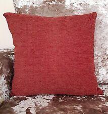 "Cushion large plain Heavy CHENILLE cushion covers or cushion 6 colour17"" 21"" 23"""