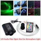 12V RGB Audio Fiber Optic Star Light Car Headliner Roof Ceiling Light 300 Points