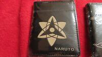 Anime Naruto Sharingan  k pop idol Cosplay Custom PU short wallet