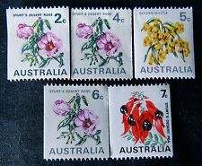 1970 Australian Stamps - Native Flower Definitives - Set of 5 MNH