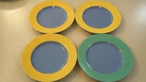 SET OF 4  LINDT-STYMEIST COLORWAYS  salad plates   9 inches across top  pristine