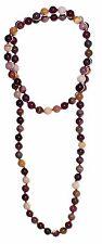 budawi® - Mookait Kugel-Kette endlos 80 cm, Perlen-/Halskette geknotet Ø 8 mm