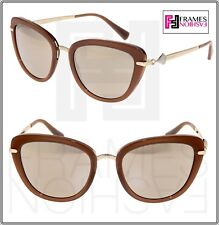 519f78b0d667b Bvlgari Divas Dream TRILAYER Bv8193b Brown Beige Gold Mirrored Sunglasses  8193