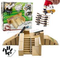 4Pcs Skate Park Ramp Parts Set Mini Fingerboard Finger Board Ultimat