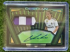 2019-20 Obsidian Soccer LUKA MODRIC Patch Auto /15 Green SSP REAL MADRID
