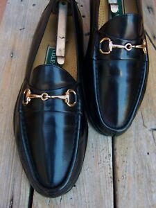 COLE HAAN Mens Dress Shoe Black Leather Casual Comfort Horsebit Loafer Size 9M