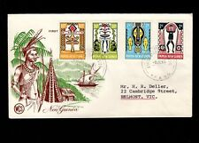 Papua & New Guinea Port Moresby 1st Day 1966 Various Tribal Design 5l