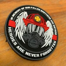 In Memory of Our Fallen Firefighters Morale PVC Patch