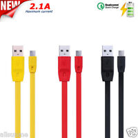 REMAX Micro USB 2.0 Fast Quick Charge 2.1A Data Charging Cable For Cellphone 1M