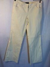 Ideology Cream Corduroy Pants 8 Low Rise New 160128