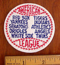 VINTAGE MLB AMERICAN LEAGUE FLANNEL BASEBALL PATCH- WASHINGTON SENATORS NOS