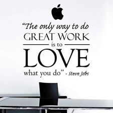 Steve Jobs Inspiration Quote Decor Office Wall Decal Sticker Style Wallpaper