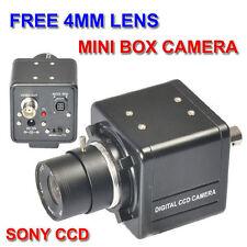 4mm CS LENS Sony CCD MiniB box CCTV Camera for cctv safety system