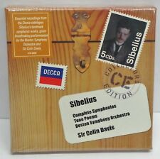 Sibelius Sir Colin Davis Complete Symphonies DECCA 5 CD Tone Poems Orchestra NEW